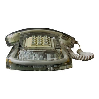 Manuneon 'Roxanne' Red Neon Art Telephone - 1980s Hong Kong - Vintage Antique For Sale