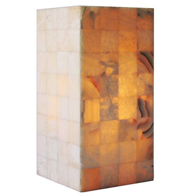 Alabaster Column Lamp - Image 1 of 4