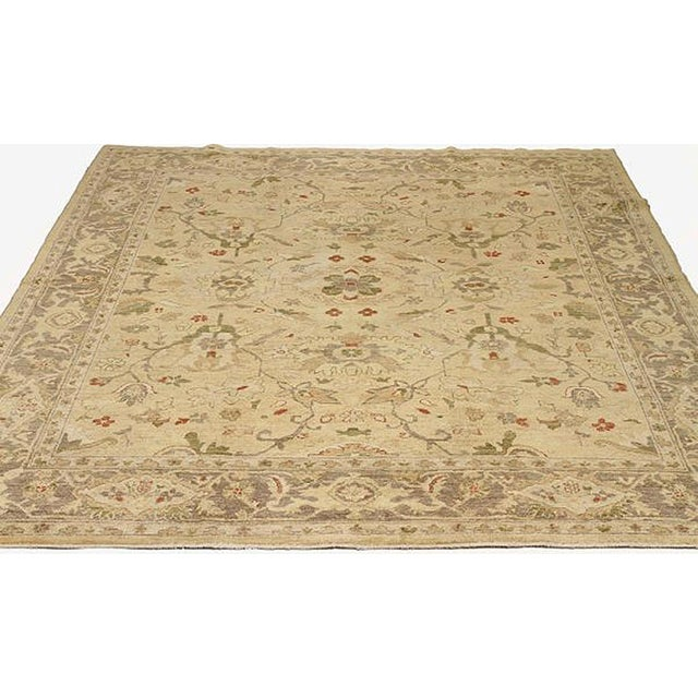 Contemporary Persian rug handwoven from the finest sheep's wool and colored with all-natural vegetable dyes that are safe...