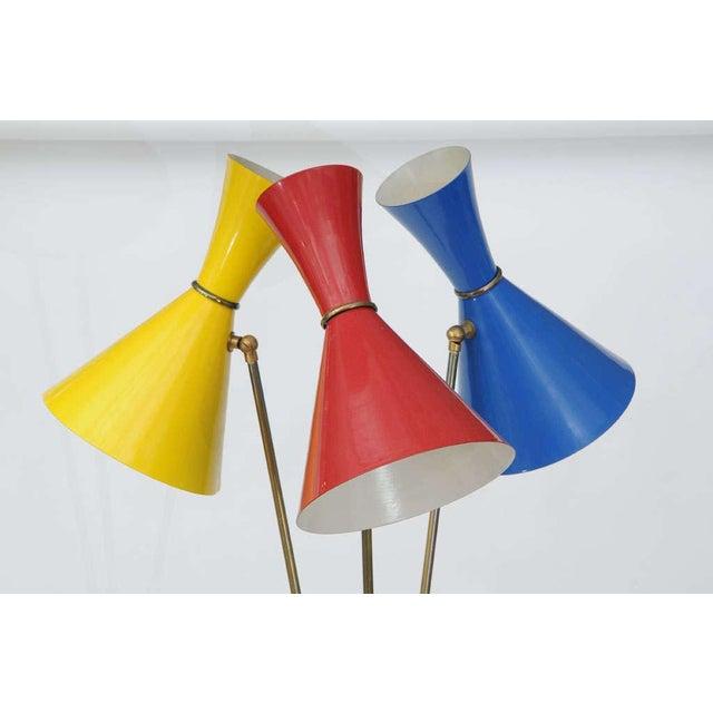 Contemporary Stilnovo Italian Three-Light Floor Lamp For Sale - Image 3 of 9