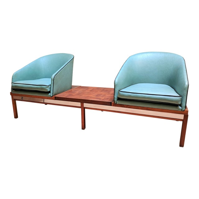 1950s Arthur Umanoff for Madison Furniture Modular Loveseat or Bench With Table For Sale