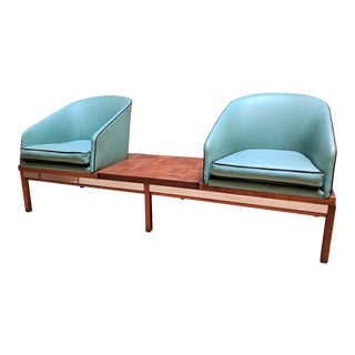 1950s Vintage Arthur Umanoff for Madison Furniture Modular Loveseat or Bench With Table For Sale