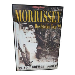 Vintage Rare Morrissey Poster From German Tour, C1999 For Sale