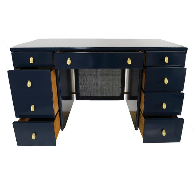 Navy Midcentury Desk - Image 6 of 7