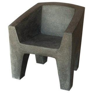 Cast Resin 'Van Eyke' Club Chair, Coal Stone Finish by Zachary A. Design For Sale