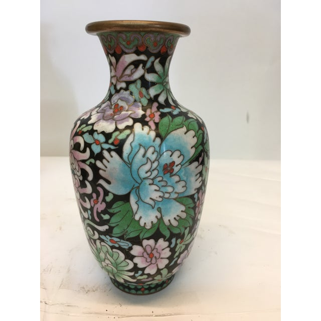 decorative chinese cloisonn vase chairish. Black Bedroom Furniture Sets. Home Design Ideas