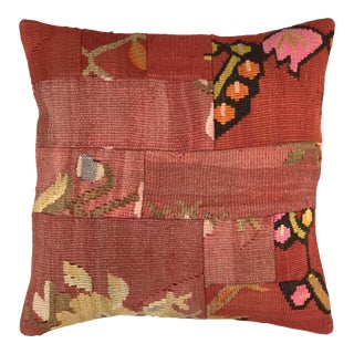 """Pink Patchwork Kilim Pillow 