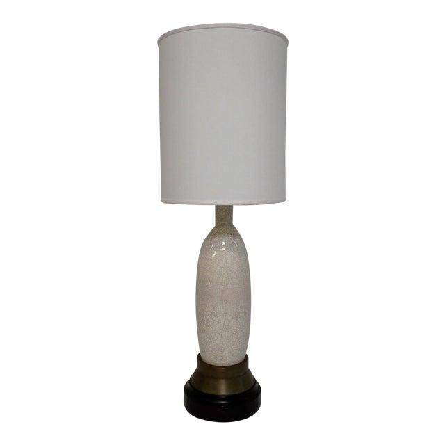 Paul Laszlo Crackle Glazed Lamp For Sale
