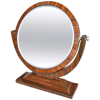 Macassar Ebony 1950s Tilting Vanity Mirror For Sale