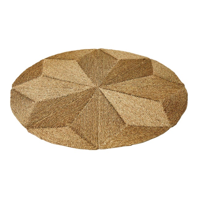 Rush House for Chairish Monte Vista Round Seagrass Rug For Sale