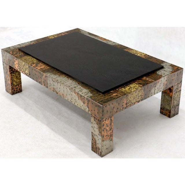 Paul Evans Mid-Century Modern Rectangular Coffee Table With Slate Top For Sale - Image 10 of 12