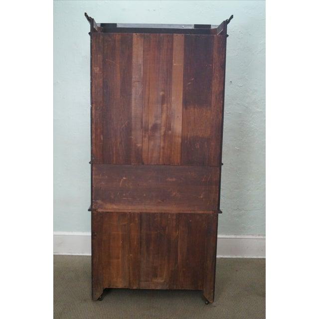 Victorian Walnut Cylinder Roll Secretary Desk - Image 4 of 10