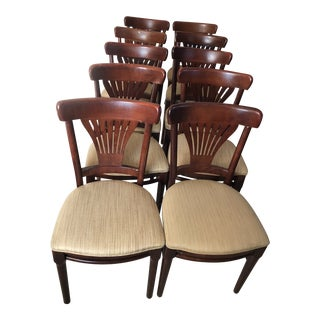 Mid-Century Style Vintage Dining Chairs- Set of 10 For Sale