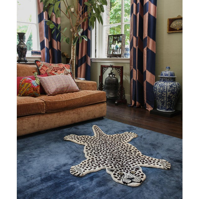 Doing Goods Snowy Leopard Rug Large For Sale - Image 4 of 6