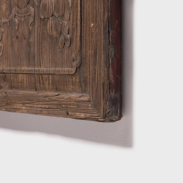 Mid 19th Century Chinese Architectural Panel With Seasonal Fruit and Flora For Sale - Image 5 of 6
