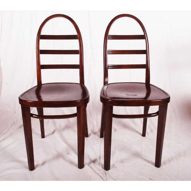 Art Deco beechwood chair by Thonet, 1919 For Sale - Image 9 of 9