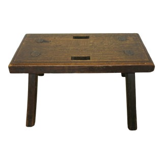 18th Century Antique Oak Stool For Sale