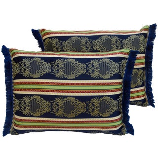 Boho-Chic Moroccan Pillows - a Pair For Sale