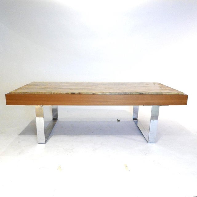 Gorgeous piece of stone in this Ilse Model 3081 table. Very heavy usable table with a lot of presence.