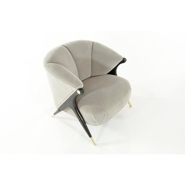 Metal Karpen Modernist Lounge Chairs in Taupe Mohair, 1950s - a Pair For Sale - Image 7 of 8