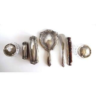 Antique Art Nouveau Sterling Silver Dresser Set - 7 Pieces Preview