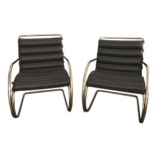 """""""Mr Lounge"""" Ludwig Mies Van Der Rohe Chairs - A Pair"""