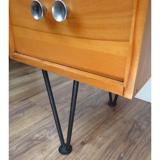 1950's Mid-Century Modern Mengel Writing Desk With Hairpin Legs For Sale - Image 10 of 13