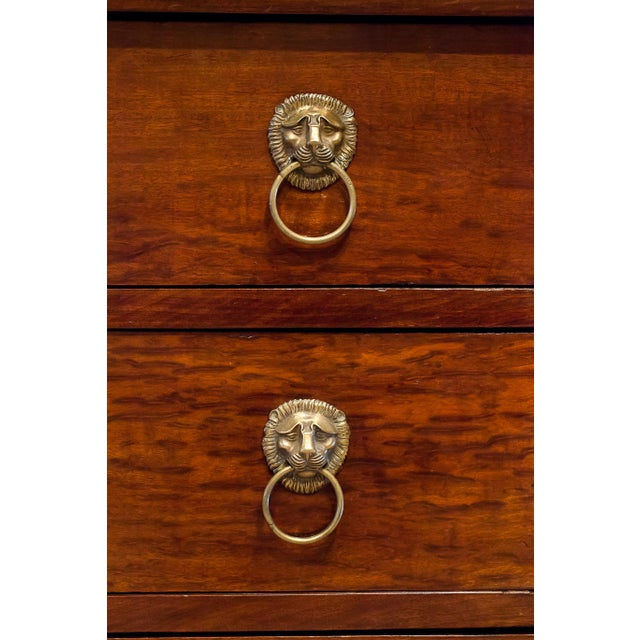 Louis Philippe Empire Style Stone Top Three-Drawer Commode, France Circa 1840 For Sale - Image 12 of 13