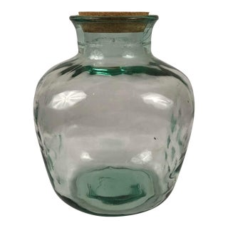 Vintage Handblown Glass Jar For Sale