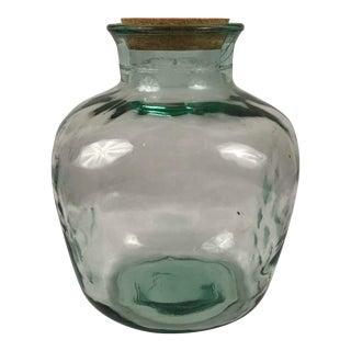 Vintage Handblown Glass Jar For Sale