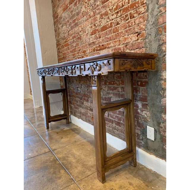 Antique Hand Carved Wood Altar Table/Console For Sale In Los Angeles - Image 6 of 12