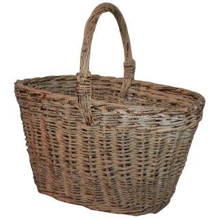 19th Century Original Painted Basket For Sale