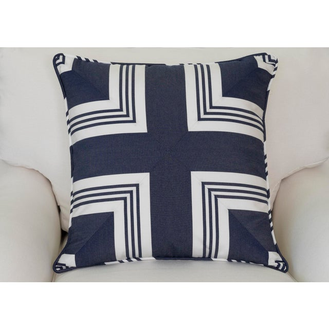 A Ralph Lauren nautical striped pillow sewn to create a cross center. This pillows would be smashing with navy or bright...