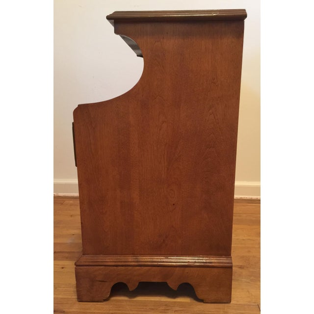 Baumritter 1950s Mid Century Modern Ethan Allen Baumritter Maple Wood Night Table For Sale - Image 4 of 11