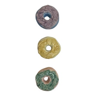 Surface Ceramics Wall Donuts - Set of 3 For Sale