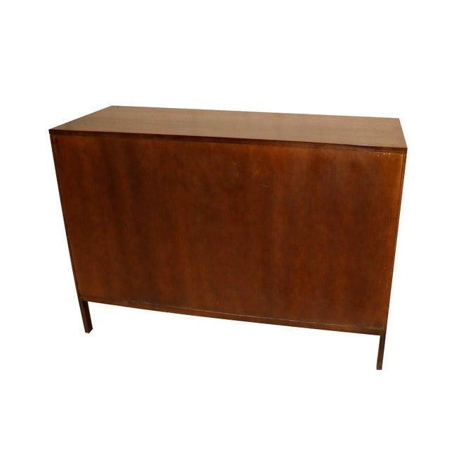 Walnut Mid Century Paul McCobb Calvin Group Dresser Media Center Bar Cabinet For Sale - Image 7 of 8