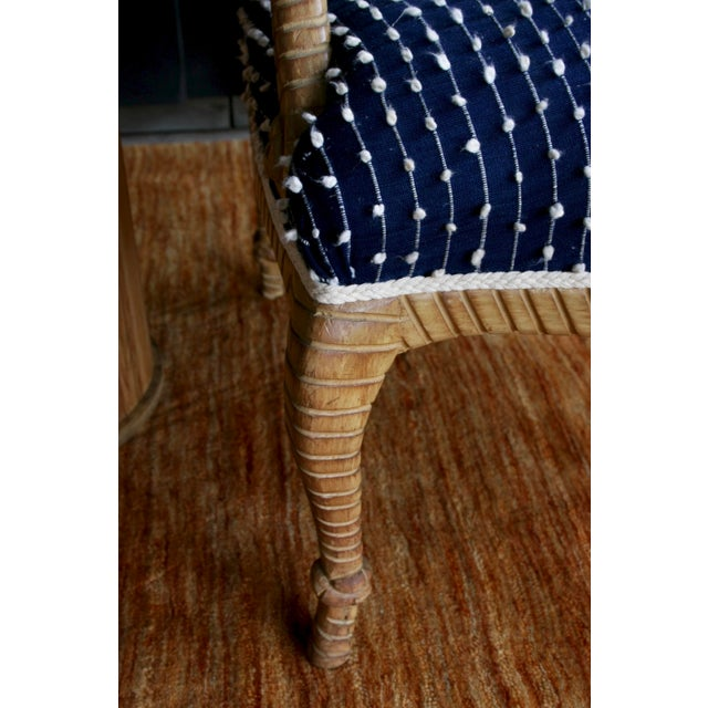 Newly Upholstered Rope & Tassel Armchairs, a Pair For Sale - Image 11 of 12