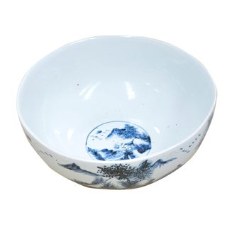 Large Hand Painted Ceramic Bowl