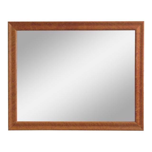 1990s Vintage Birdseye Maple Framed Rectangular Mirror For Sale