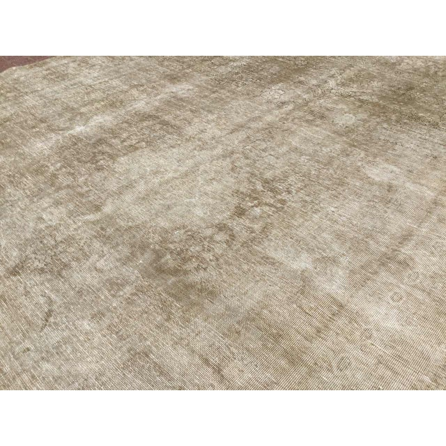 Oversized Antique Distressed Hand Knotted Oushak Rug For Sale In Raleigh - Image 6 of 11
