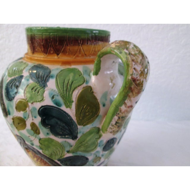 Italian Majolica Handled Vase - Image 6 of 9