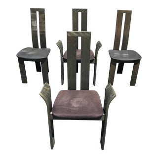 1990s Vintage High Design Italian Dining Chairs by Pietro Costantini - Set of 4 For Sale