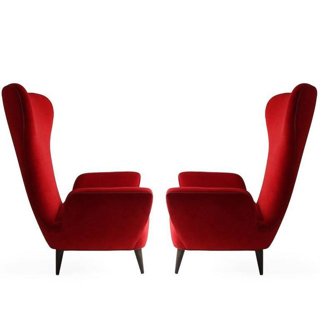 Pair of Rare Low-Slung Modern Italian Sculptural Chairs For Sale In Houston - Image 6 of 7