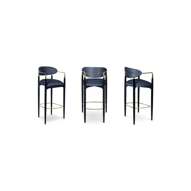 Try not to get handsy with the flirty and modern design of the Nahéma bar stool. Her sweet seat and contemporary detached...