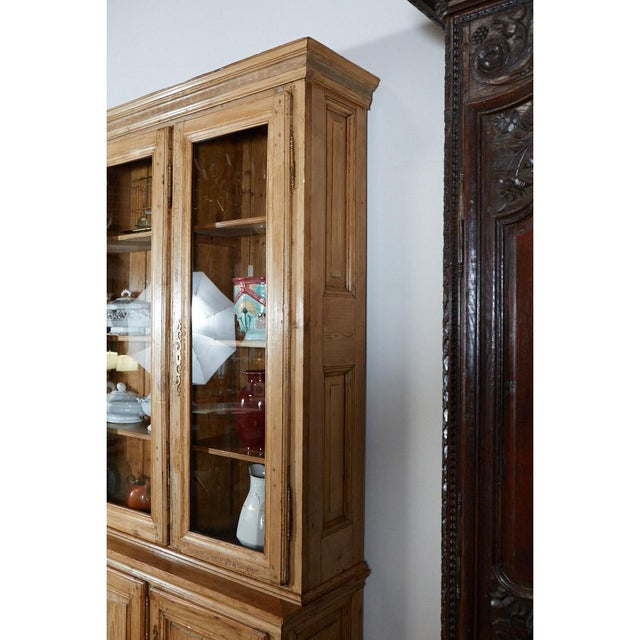 Mid 19th Century Large French Pine Cabinet/Bookcase For Sale - Image 5 of 8