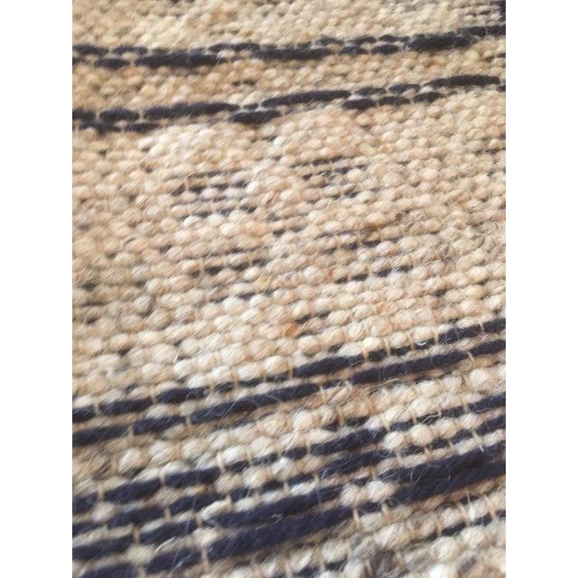 1960s Boho Chic Reversible Wool Weaving Rug Saddle Blanket For Sale - Image 4 of 7