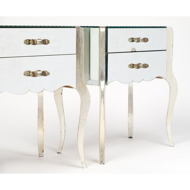 French Art Deco Mirrored Side Tables - A Pair - Image 10 of 10