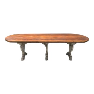 1940s French Country Refractory Kitchen Table