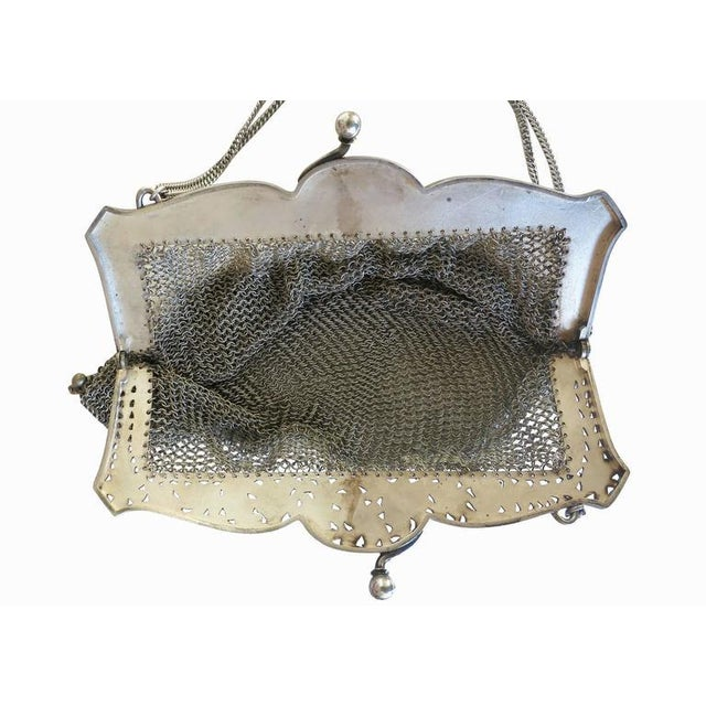 Sterling Silver Victorian Chain Mesh Purse - Image 5 of 5