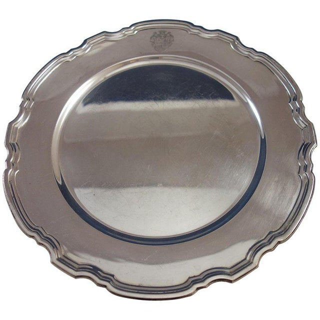 Early 20th Century Hampton by Tiffany & Co. Sterling Silver Charger Plate #20843 For Sale - Image 5 of 5